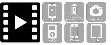 Koffertrolley um mobile Geräte zu laden