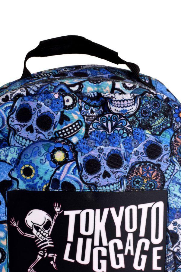 rucksaecke mit led licht tokyoto-luggage BLUE SKULLS 2