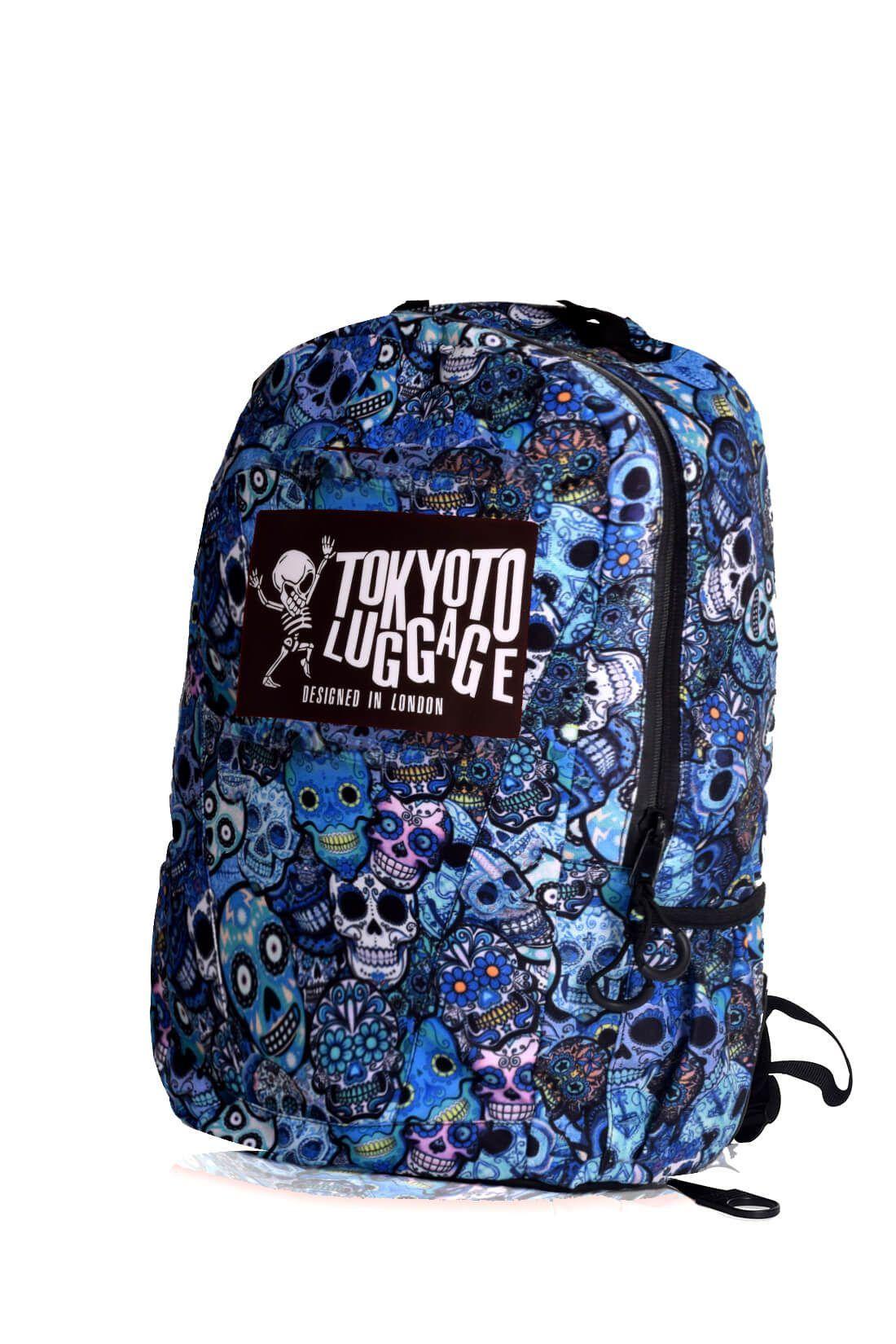 rucksaecke mit led licht tokyoto-luggage BLUE SKULLS 4