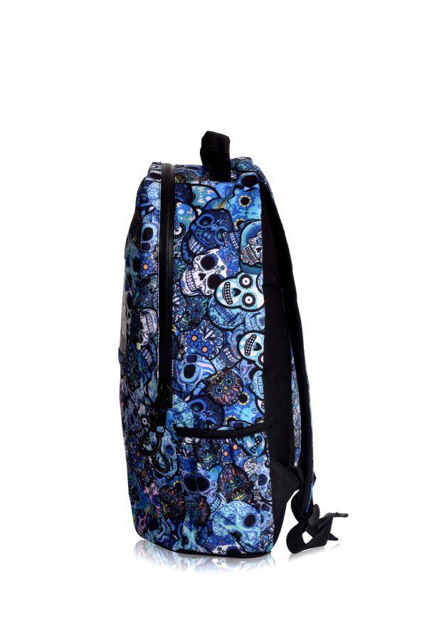 rucksaecke mit led licht tokyoto-luggage BLUE SKULLS 5
