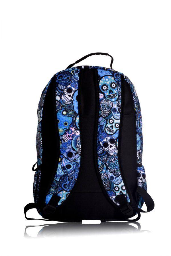 rucksaecke mit led licht tokyoto-luggage BLUE SKULLS 7