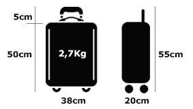 Fun Suitcases Luggage Made of Recycled Materials